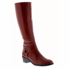 Rose Petals Lia Extra Wide Calf Boot (Brick) - Final Sale