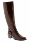 Rose Petals Lia Extra Wide Calf Boot (Tobacco)