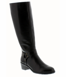 Rose Petals Lia Super Wide Calf™ (Black) - FINAL SALE
