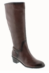 Rose Petals Sophia Super Plus Wide Calf� Boot (Tobacco)