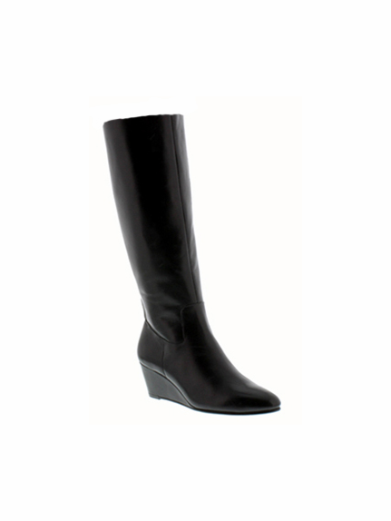 Rose Petals Summer2 Extra Wide Calf Wedge Boot (Black) - FINAL SALE