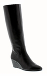 Rose Petals Summer2 Super Wide Calf� Wedge Boot (Black)