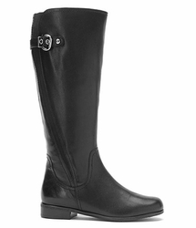 Rose Petals Taylor Super Wide Calf™ Boot (Black) - Final Sale