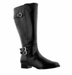 Rose Petals Women's Addison Extra Wide Calf (Black)