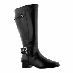 Rose Petals Women's Addison Super Plus Wide Calf� Leather Riding Boot (Black)