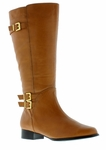 Rose Petals Women's Addison Super Plus Wide Calf� Boot (Cognac)