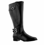 Rose Petals Women's Addison Super Wide Calf� Boot (Black)