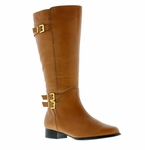 Rose Petals Women's Addison Super Wide Calf� Boot (Cognac)
