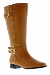 Rose Petals Women's Addison Super Wide Calf� Leather Riding Boot (Cognac)