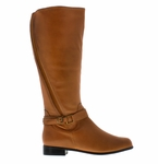 Rose Petals Women's Kylie Extra Wide Calf (Cognac)