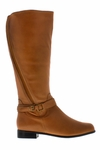 Rose Petals Women's Kylie Super Plus Wide Calf� Leather Riding Boot (Cognac)