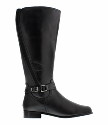 Rose Petals Women's Kylie Super Wide Calf� Leather Riding Boot (Black)