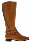 Rose Petals Women's Kylie Super Wide Calf� Boot (Cognac)