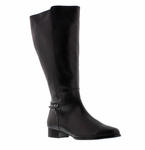 Rose Petals Women's Piper Extra Wide Calf Boot (Black)