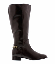 Rose Petals Women's Piper Extra Wide Calf Leather Dress Boot (Brown)