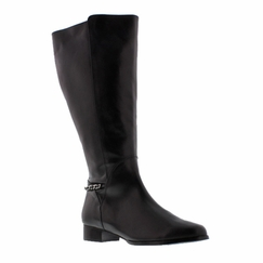 Rose Petals Women's Piper Super Plus Wide Calf� Leather Dress Boot (Black)
