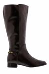 Rose Petals Women's Piper Super Wide Calf� Leather Dress Boot (Brown)