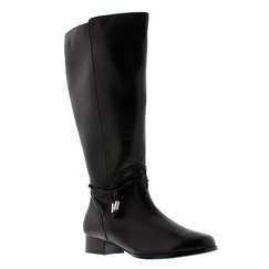 Rose Petals Women's Sadie Super Plus Wide Calf� Leather Dress Boot (Black)