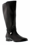 Rose Petals Women's Sadie Super Plus Wide Calf� Boot (Black)