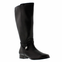 Rose Petals Women's Sadie Super Wide Calf� Leather Dress Boot (Black)