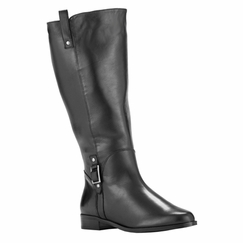 Rose Petals Women's Skye Super Plus Wide Calf� Leather Riding Boot (Black)