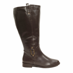 Rose Petals Women's Skye Super Wide Calf� Leather Riding Boot (Brown)
