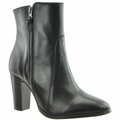 Ryan Women's  Extra Wide Fit Leather Ankle Dress Boot (Black)