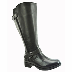 Tori Women's Super/Super Plus Wide Calf� Leather Ridng Boot ON SALE!  (Black)