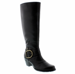 Walking Cradles® Aryn Extra Wide Calf Boot (Black) - FINAL SALE