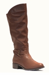 Women's Bella Extra Wide Calf Boot (Tan)