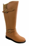 Women's Cassie Extra Wide Calf Boot (Tan)