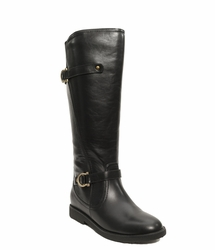 Women's Cassie Extra Wide Calf Vegan Boot (for larger ankles!  Black)