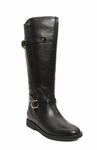 Women's Cassie Extra Wide Calf Vegan Boot (for larger ankles!) (Black)