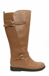 Women's Cassie Extra Wide Calf Vegan Boot (for larger ankles!) (Tan)