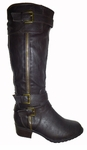 Women's Emerson Extra Wide Calf Boot (Black)