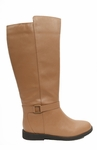 Women's Heidi Extra Wide Calf Vegan Boot (for larger ankles!) (Tan)