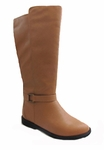 Women's Heidi Super Wide Calf� Vegan Boot (for larger ankles!) (Tan)