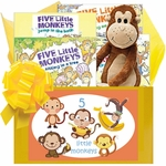 5 Little Monkeys Baby Gift with Books