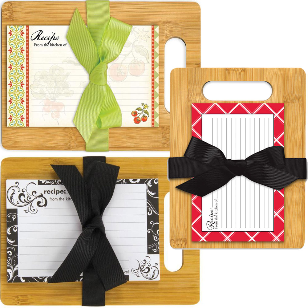 Cutting Board with Recipe Cards