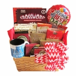 Father's Day Salty and Sweet Gift Basket with Puzzle Books