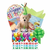 First Birthday Baby Gift Basket with Books