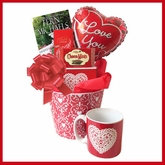 I Love You Valentine's Day Gift Basket with Book