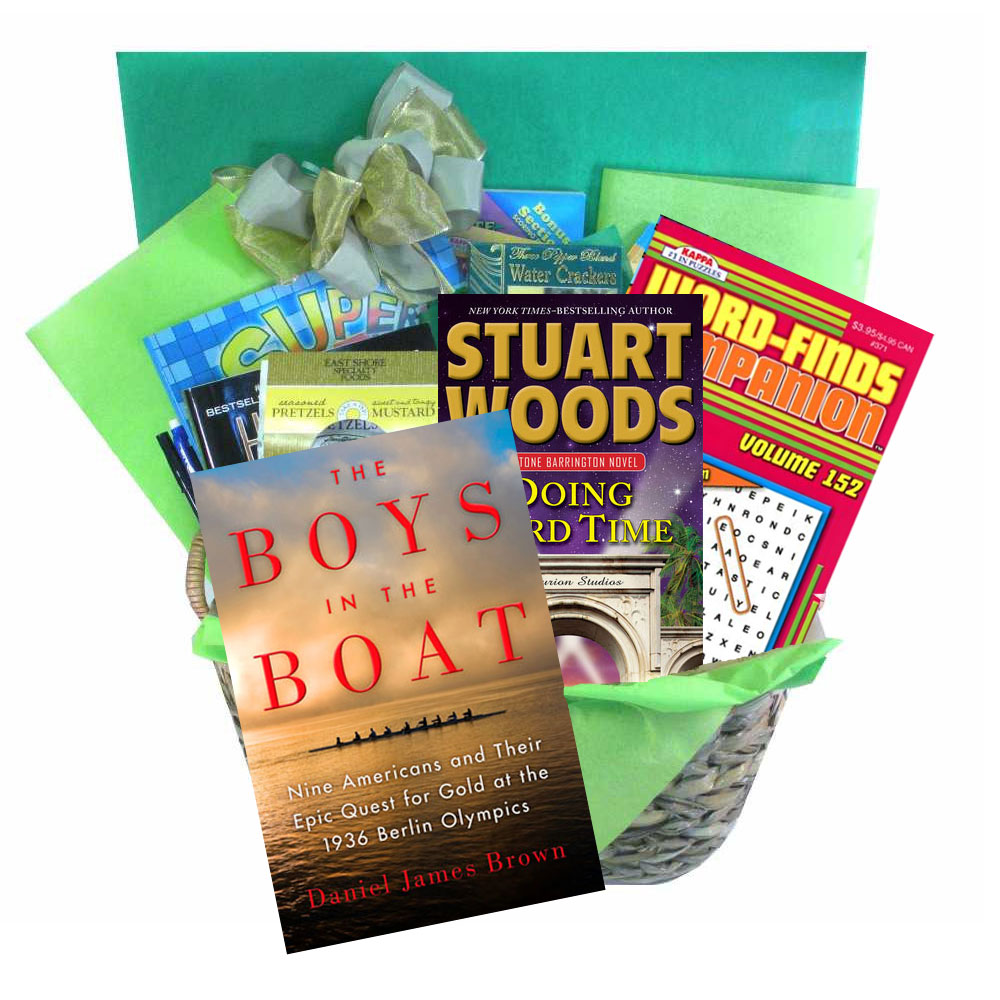 Books And Puzzle Books Deluxe Gift Basket Includes Two