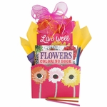 Live Well Adult Coloring Book Bouquet
