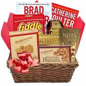 Nutty Gift Basket with Books