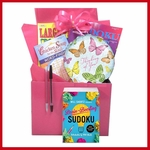 Pink Boredom Buster Get Well Gift Box
