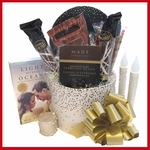 Coffee Lover's Silver and Gold Gift Basket