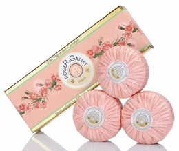 Roger & Gallet Carnation Soap, Box/3 Bars - Boxed Set discontinued by R&G