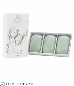 Woods of Windsor Lily of the Valley Fine English Soap, Box/3 Bars