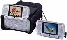 "AudioVox VBP3000 Portable Car Video Cassette Player with Dual 5"" LCD Screens & TV Tuner"